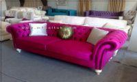 Pink Velvet Chesterfield Sofa American