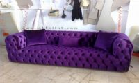 Purple Chesterfield Sofa New Style