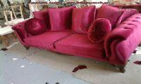ared velvet avantgarde couch design