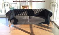 black chesterfield couch classical design ideas