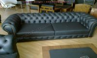 black classic leather chesterfiled uk design
