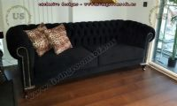black fabric chesterfield sofa design