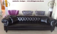 black leather chesterfield couch design