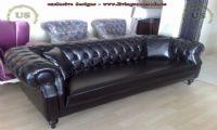 black leather sofa luxury design