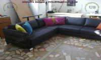black modern corner sofa design