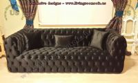 black velvet chesterfield sofa modern design