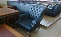 chesterfield chair design blue