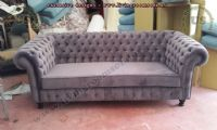 classic chesterfield couch fabric design