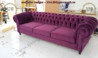 classic chesterfield maroon velvet fabric design