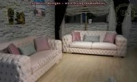 couple modern chesterfield sofas usa design