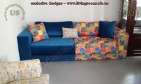 couple modern fabric sofa