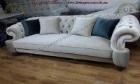 elegant gray velvet sofa quilted handmade