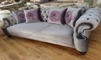 elegant sofas shiny dar gray velvet handmade