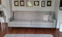 gray fabric sofa design