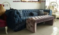 italian design chesterfield with bench