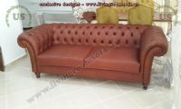 leather chesterfield couch design