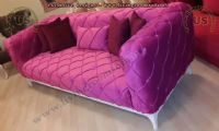 maroon chesterfield sofa modern design