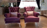 maroon velvet avantgarde bergere chair design