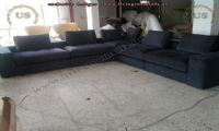 modern sectional sofas black l shaped design idea