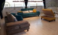 modern sofa sets with ottoman, living room design