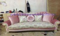 pink avant-garde classic sofa