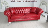 red leather chesterfield sofa