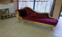 red loveseat for woman