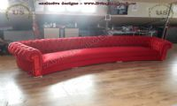red velvet chesterfield sofa shiny living room
