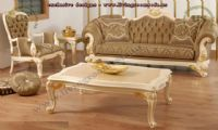 shiny brown avantgarde classic sofa sets
