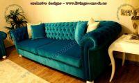 turquoise velvet chesterfield sofa