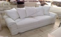 white fabric modern couch design idea