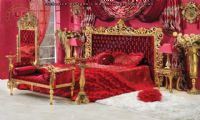 wonderful queen bedroom furniture red carved