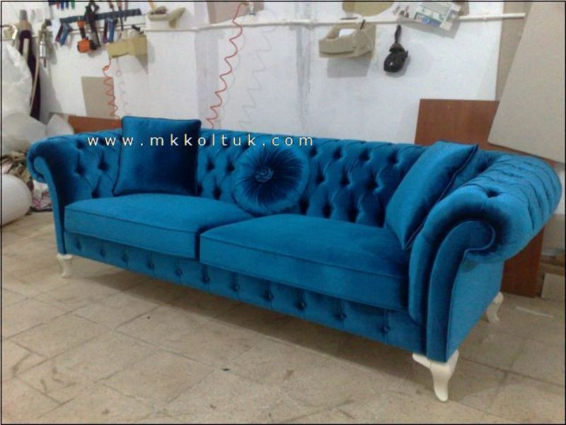 Turquoise American Style Chesterfield