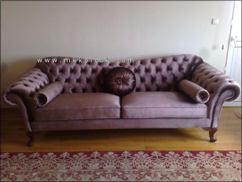 Velvet Chesterfield Couch