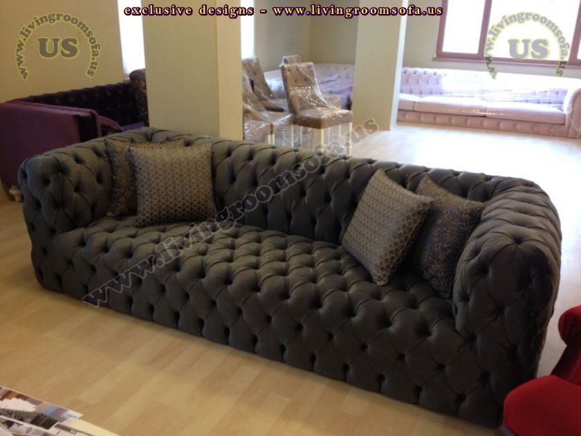 Amazing Black Chesterfield Sofa Design