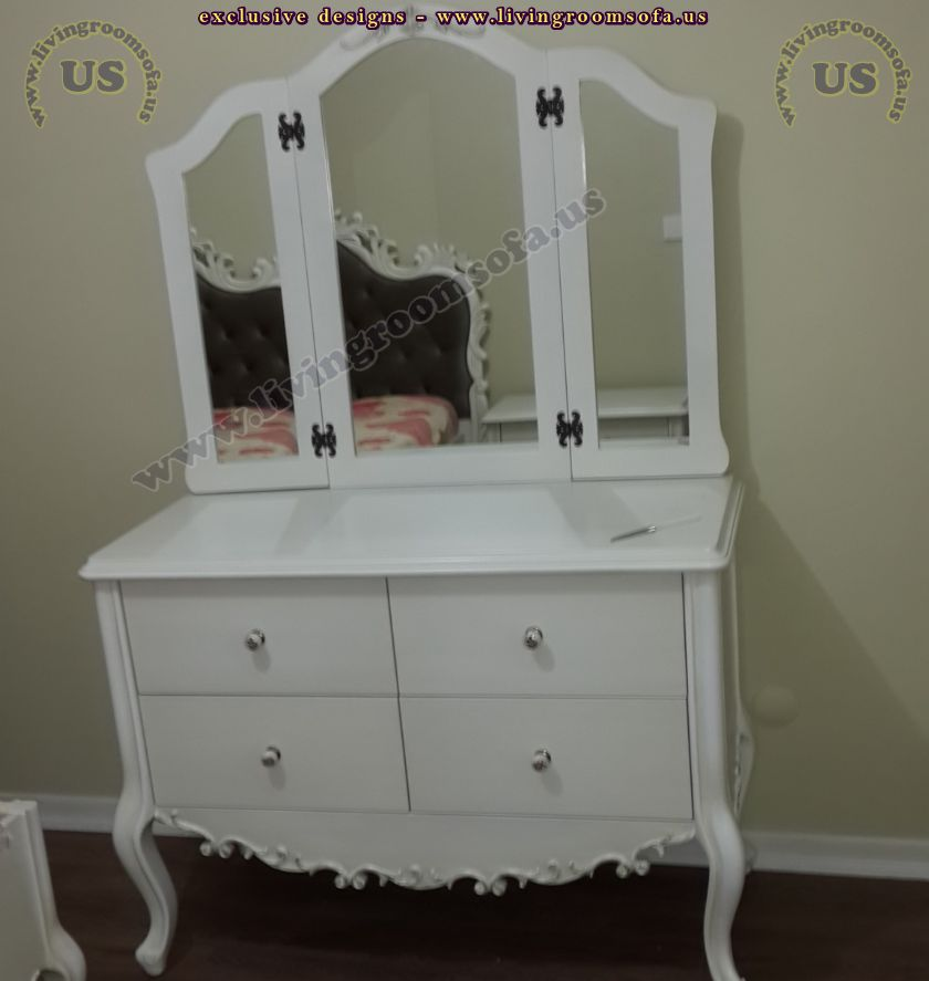 avantgarde design make up desk furniture white