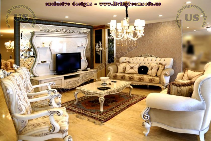 avantgarde sofa set and tv unit for living room