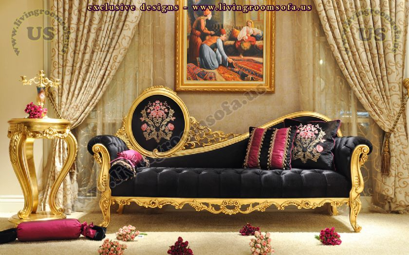 beautiful black loveseat for woman