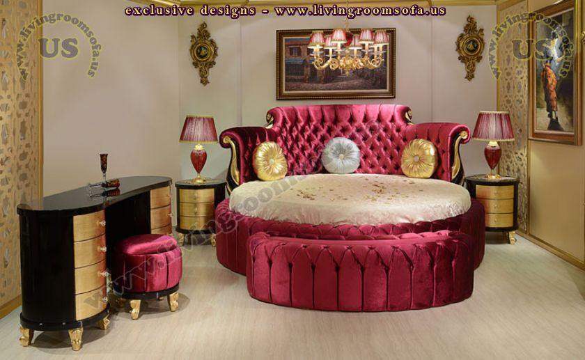 beautiful rounded classic bedroom design