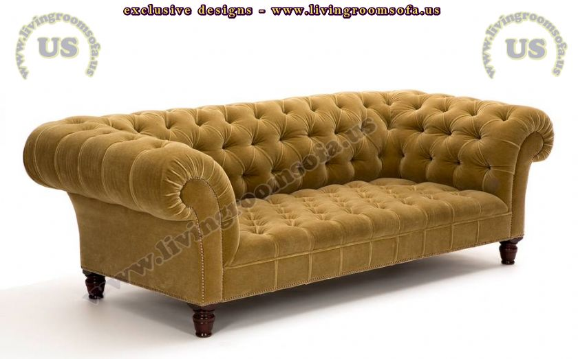beautiful yellow chesterfield design