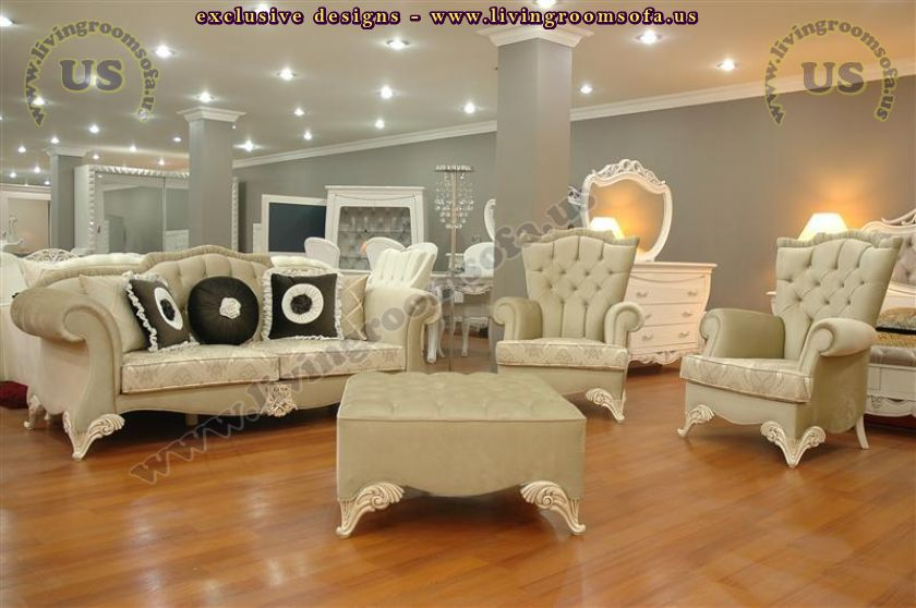 beige avantgarde living room sofa sets