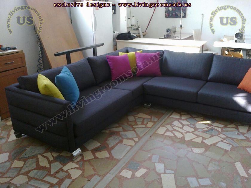black modern corner sofa design