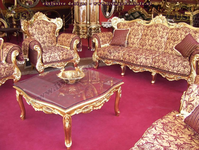 carved wooden classic sofa set living room design
