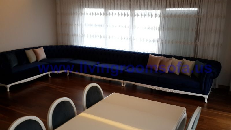 chesterfield corner sofa design idea