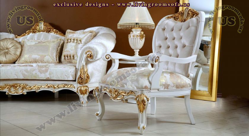 classic avantgarde living room sofa and chair