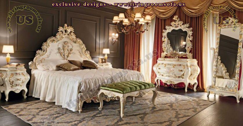 classic carved bedroom furniture design