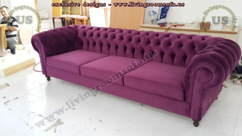 classic chesterfield maroon velvet fabric design