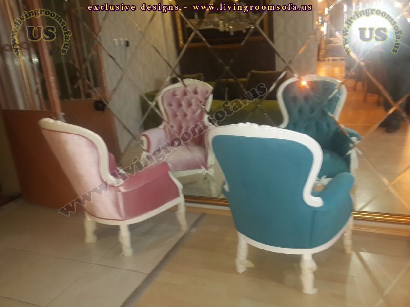 classic design bergere armchairs