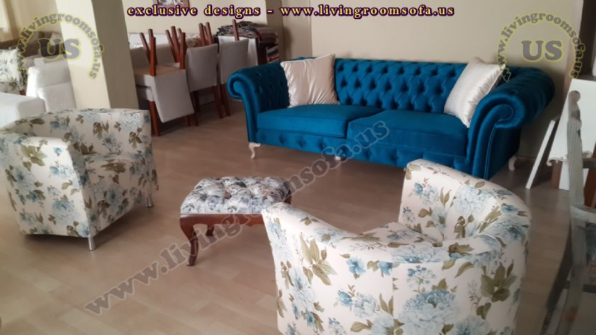 Red Velvet Chesterfield Sofa Shiny Living Room Exclusive Design Ideas