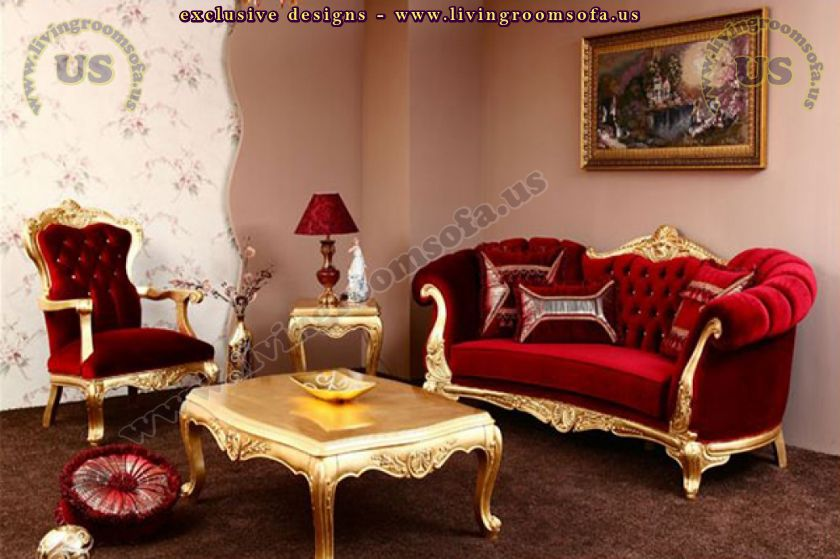 classic red quilted sofa design for living room